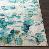 Paramount Leaves Teal + Aqua Rug
