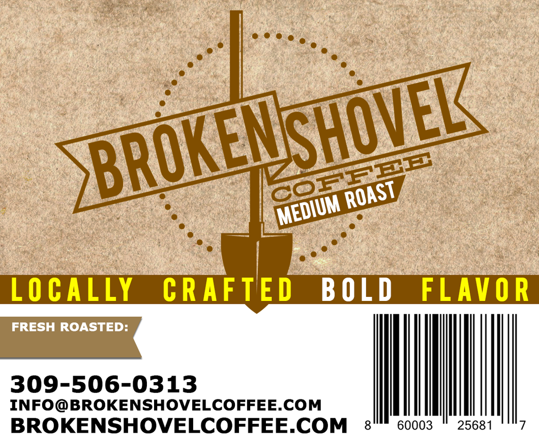Broken Shovel Farms Organic Medium Roast Whole Bean Coffee