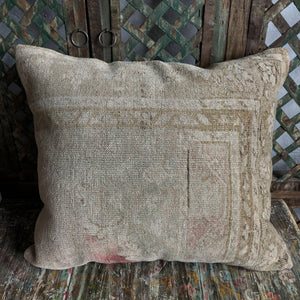 Vintage Turkish Rug Pillow #b