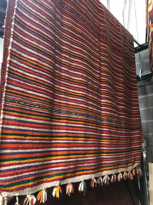 Vintage Mid-Century Moroccan Mixed Weave Rug, 10'7 X 5'11