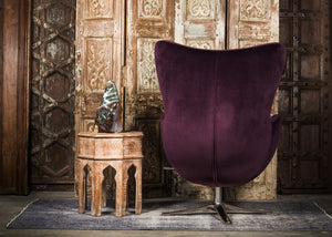 SHE-066 Egg Chair in Purple Velvet GY58-90