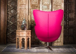 SHE-066 Egg Chair in Pink Wool SHO-11