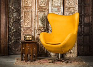 SHE-066 Egg Chair in Gold Wool SHO-13