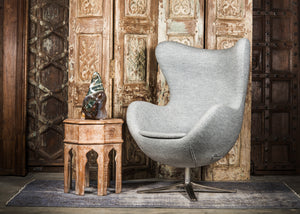 SHE-066 Egg Chair in Gray Wool SHO-51