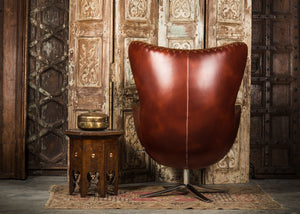 SHE-066 Egg Chair in Brown PU Leather TX3009