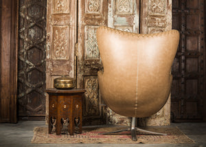 SHE-066 Egg Chair in Brown PU Leather TX4203