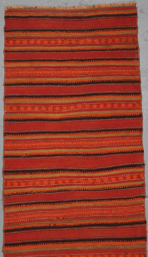 AVL Antique Moroccan Kilim runner, 2'10'' x 10'11''