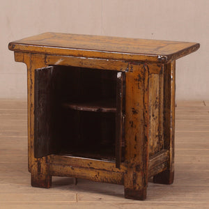 Antique Chinese small lacquered cabinet
