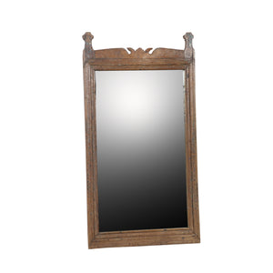 Antique Indian teak mirror frame