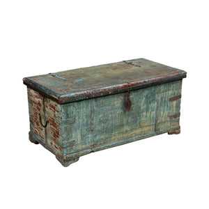 Antique Indian painted blanket chest