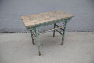 Antique Chinese painted elm wine table