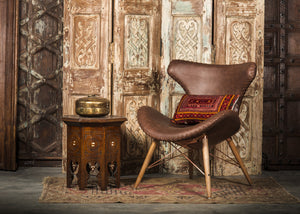 CHE-413 Capri Chair in Brown PU Leather TX4206