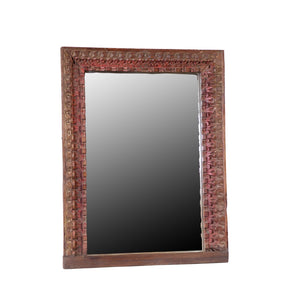 Vintage Indian Carved Frame with Mirror
