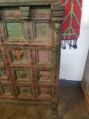 Antique Indian painted chest