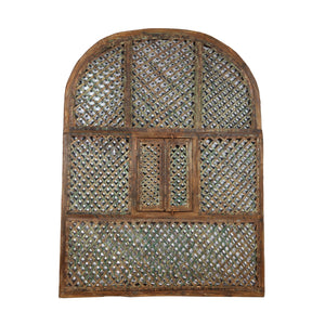 Vintage Indian architectural trellised garden panel