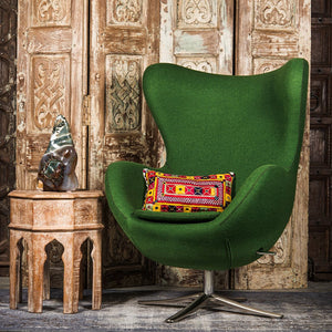SHE-066 Egg Chair in Green Wool SHO-32