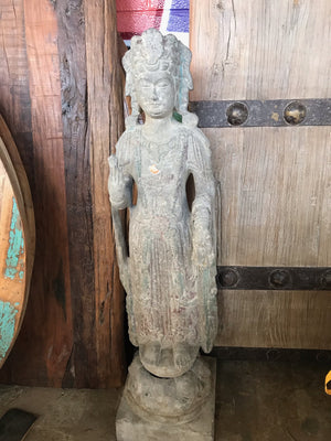 Vintage Chinese Stone Guan Yin Statue