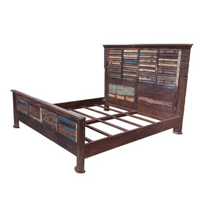 Indian King size bed made from antique components