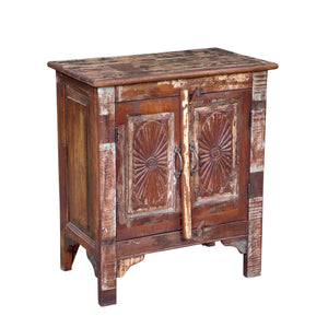 Indian Reclaimed Teak Bedside Cabinet