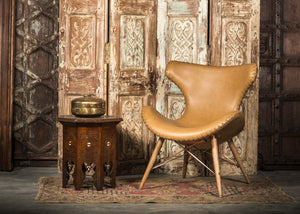 CHE-413 Capri Chair in Brown PU Leather TX4204