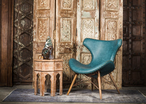 CHE-413 Capri Chair in Blue/Green PU Leather TX4210