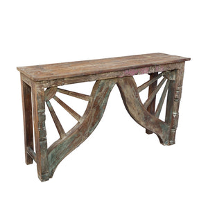 Indian Carved Console Table, constructed from antique components 3/3