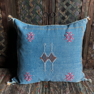 Moroccan Sabra Cactus Silk Pillow #2