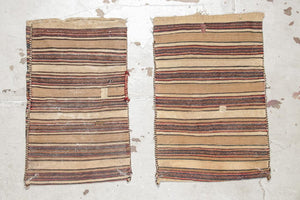 Pair of Old West Persian Trappings, kilim and sumak weave