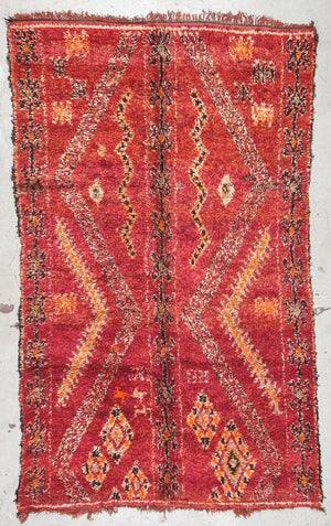 Vintage Moroccan Mid-century style Rug, Mid to late 20th c.