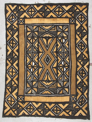 "Vintage Mali Bogolanfini ""mud-cloth"" textile"
