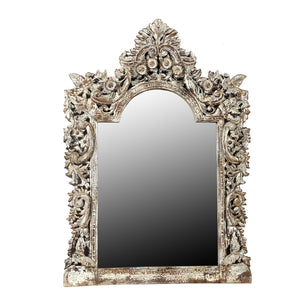 Carved and painted MIRROR FRAME, reproduction