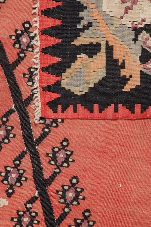 Semi-antique Bessarabian kilim rug, Romania,  6'8'' x 9'3''