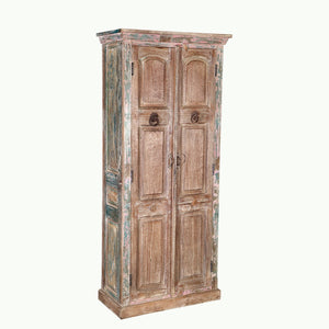 ANGLO-INDIAN  TEAK ALMIRAH OR ARMOIRE