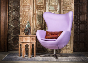 SHE-066 Egg Chair in Lavender Wool SHO-47