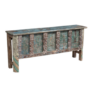 Indian colonial style console table made from antique elements