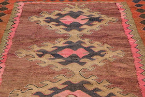 AVL Semi Antique West Persian Kilim, early/mid 20th c. Size: 55'' x 139''