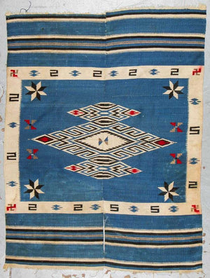 Antique Mexican Blanket/Tapestry, c. 1920-30