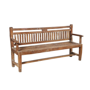 Vintage Indian teak wood garden bench