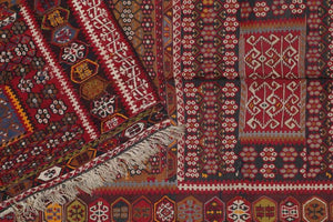 AVL Turkish semi-antique kilim, mid 20th c., 6'9'' x 14'0''