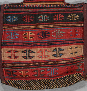 Antique West Persian Kilim Bag, early 20th c. 1'6'' x 1'10''