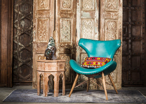 CHE-413 Capri Chair in Teal PU Leather TX4225
