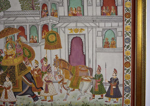 Indian Batik Painting on Silk