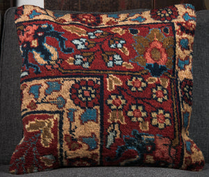 "Vintage Turkish Rug Pillow 20"" x 20"""