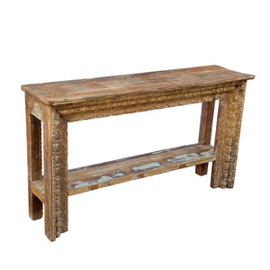 Indian carved console table