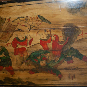 Antique Chinese Painted wood Panel