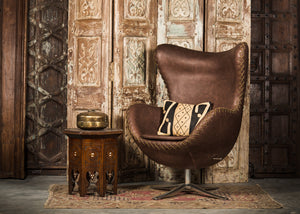 SHE-066 Egg Chair in Brown PU Leather TX4206