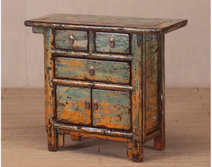 Antique Chinese lacquered elm chest of drawers 2