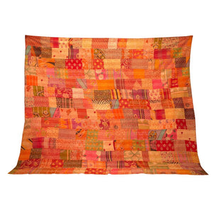 Stone-washed Kantha Quilt #4