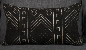 "Vintage Mali mud cloth pillow - single sided 24"" x 14"""