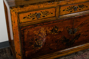 Chinese Lacquered Elm Cabinet
